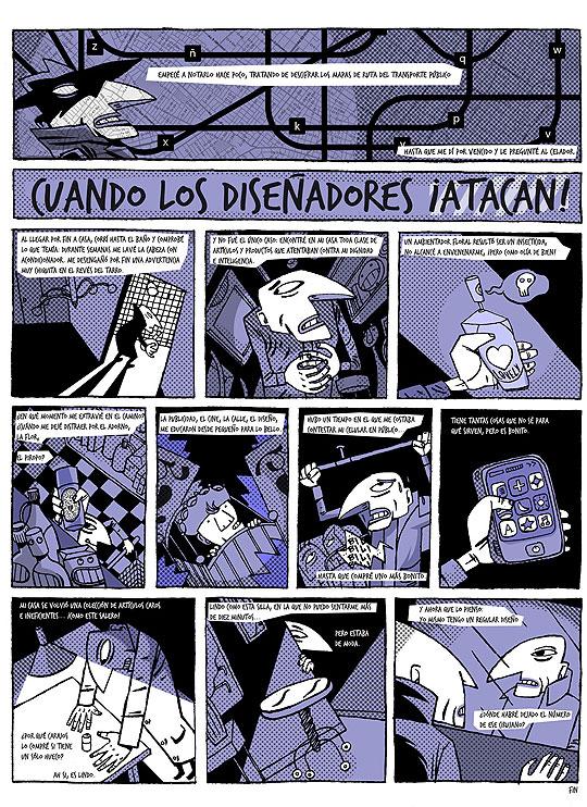 ¡Cuando los diseñadores atacan! Comic de John Joven