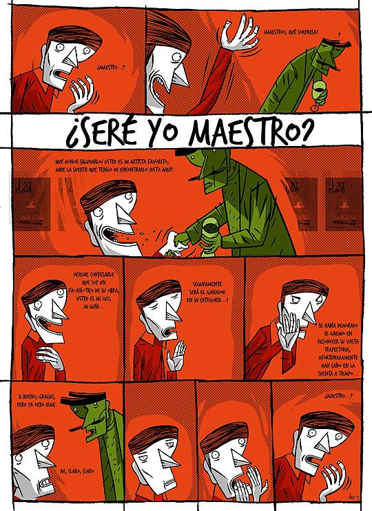 ¿Seré yo Maestro? Comic de John Joven
