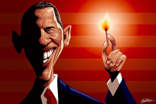 Caricatura de Obama por BAPTISBAO