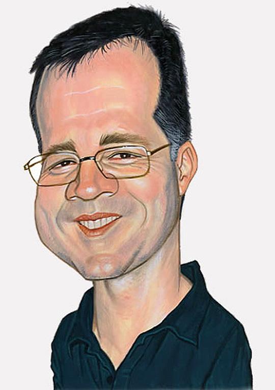 Ismael Roldan, caricatura ISMAEL ROLDAN