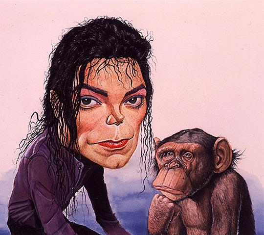 Michael Jackson, caricatura por ISMAEL ROLDAN