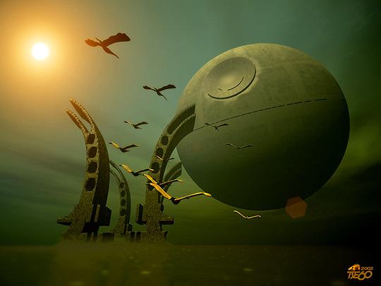 ilustración 3D de MIREK DROZD