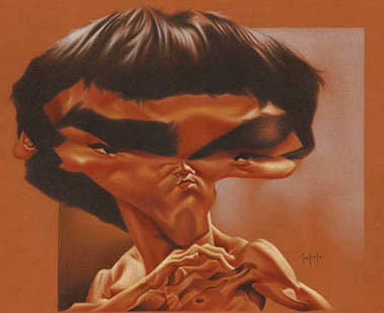 Caricatura de Bruce Lee por DAVID PUGLIESE