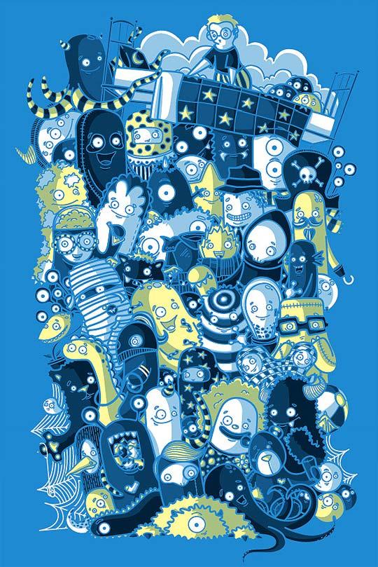 Ilustración Vectorial y diseños para camisetas de RECYCLEDWAX