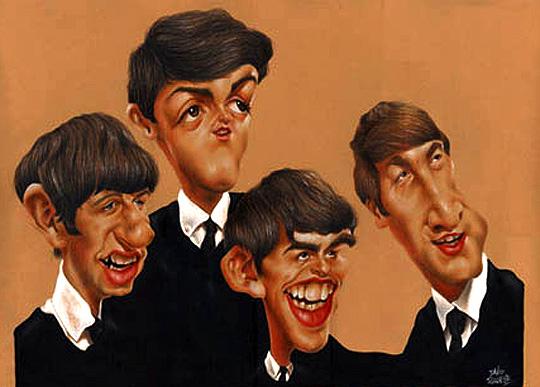 Caricatura de The Beatles por DAVID PUGLIESE