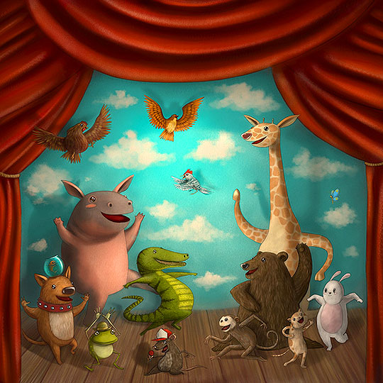 Ilustración infantil de David Niño