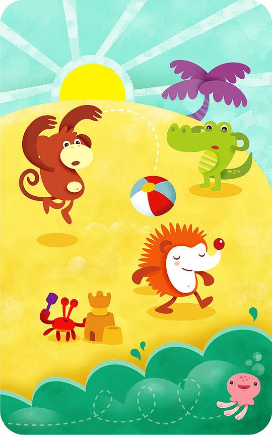 Ilustración infantil de Gisela Bohórquez
