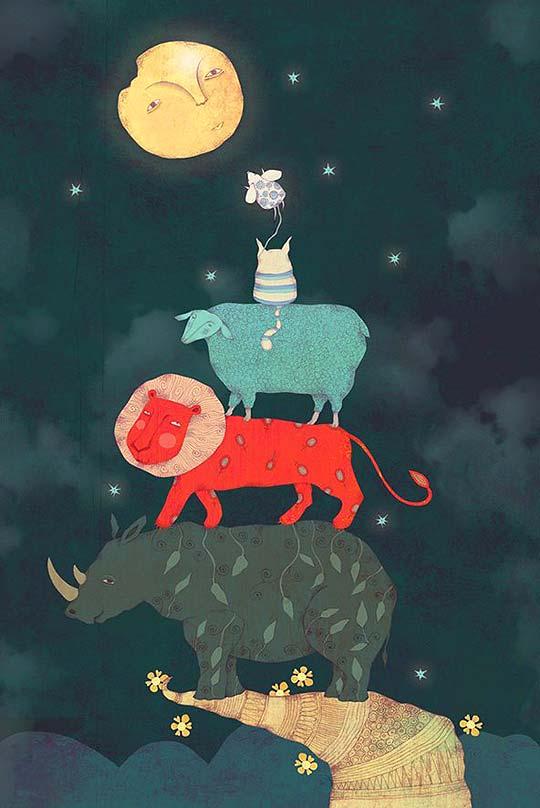 Ilustración infantil de María Fernanda Mantilla