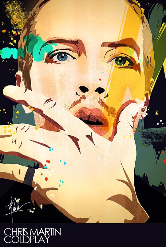 Chris Martin por Versionvadi