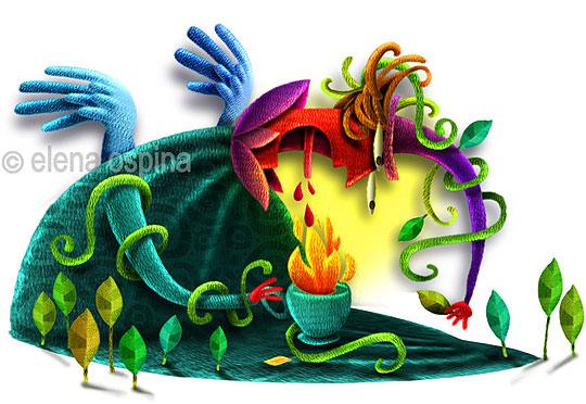 Ilustración infantil de Elena Ospina