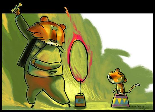 Ilustración infantil de Henry González