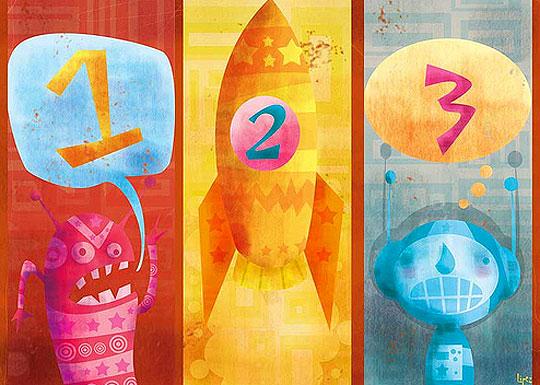 Ilustración infantil de Diego López