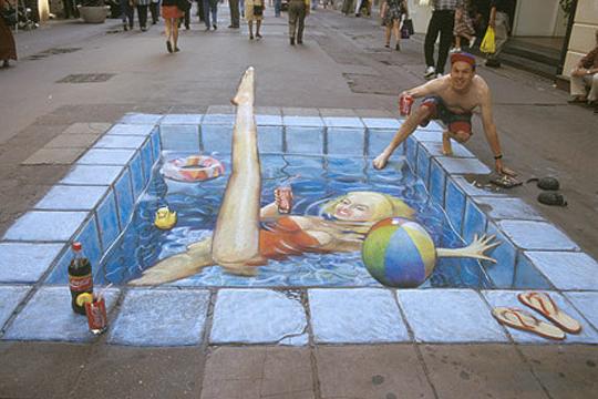 Arte urbano de JULIAN BEWER, ilusión e ingenio en las calles