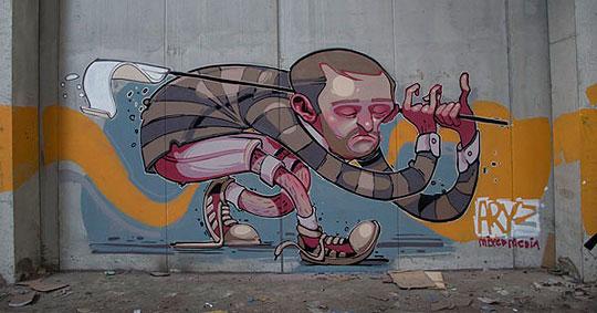 Arte urbano de ARYZ