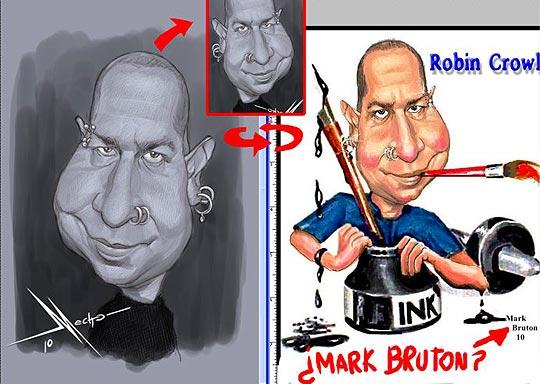 Caricaturas plagiadas, MARK BRUTON