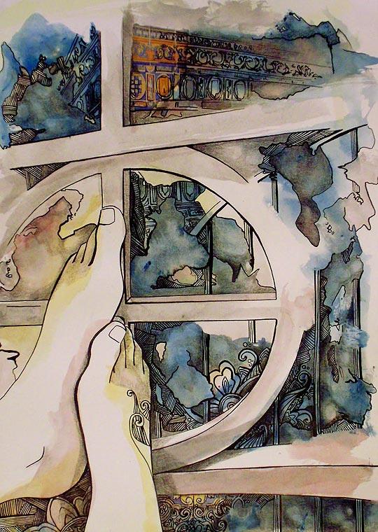 Dibujo y pintura de SOLEDAD MANSILLA.