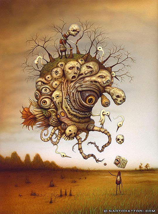 Ilustración surrealista de NAOTO HATTORI