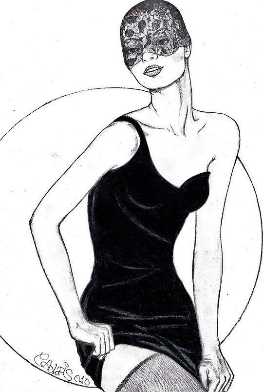 Ilustración de moda, MARÍA CASAIS. Nos llegan links.