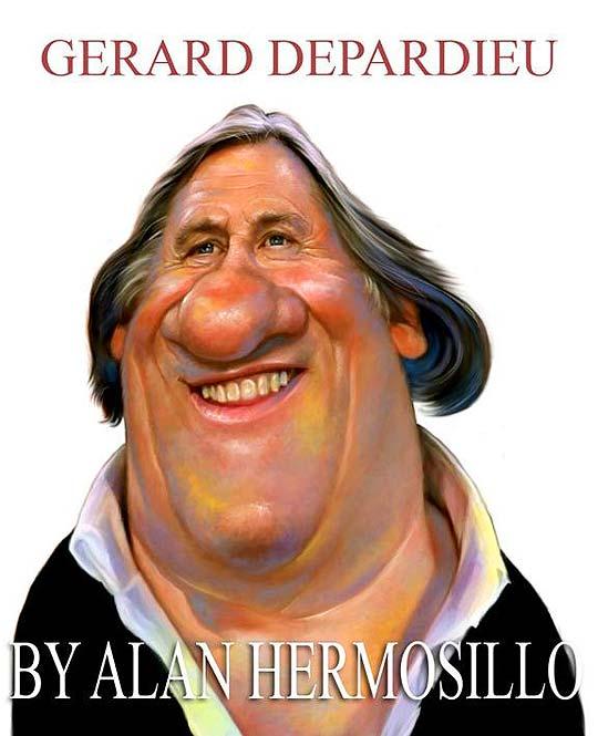 Caricatura de famosos por ALAN HERMOSILLO