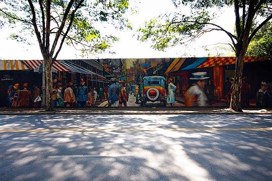 Arte Urbano y muralismo de Eduardo Kobra
