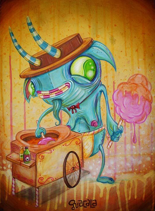 Arte urbano e ilustración de GUACALA.
