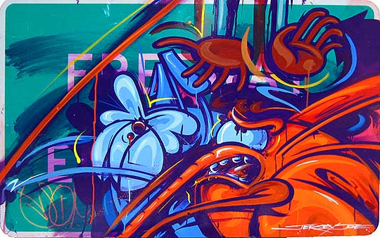 Arte urbano y pintura de JERSEY JOE