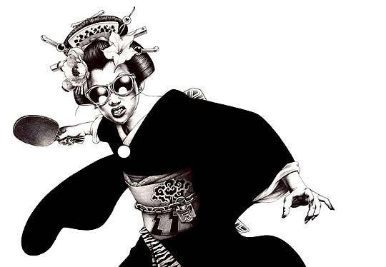 Ilustración con esferos con SHOHEI