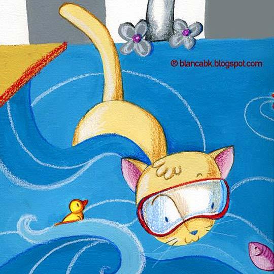 Ilustración infantil y acuarela de BLANCA BK
