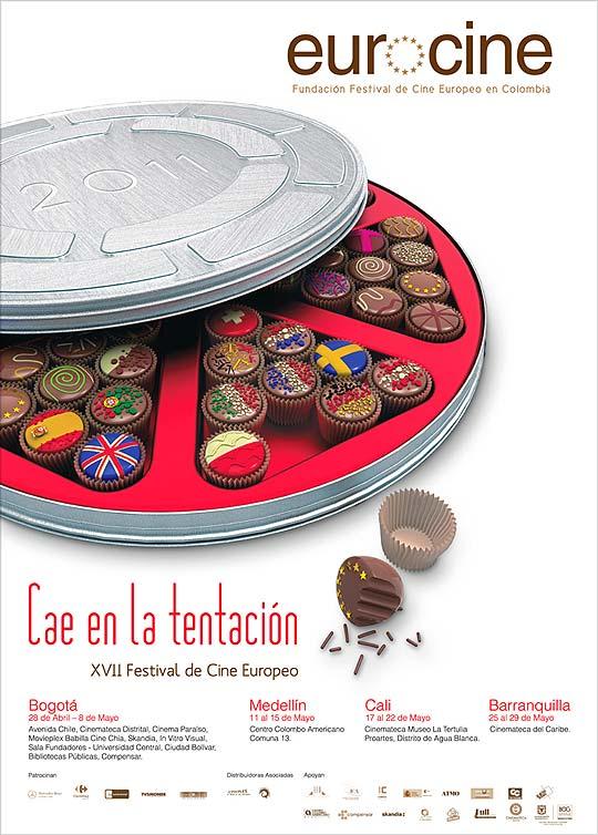 Convocatoria. Diseño de afiche festival EUROCINE 2012