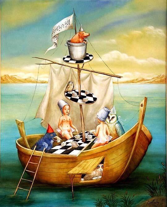Pintura llena de fantasía con AGNES BOULLOCHE