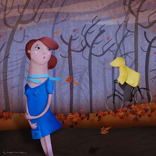 Ilustración en plastilina de IRENE FENOLLAR