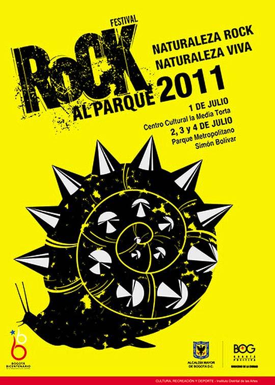 Posters de Rock y el ganador diseño Rock al parque 2011
