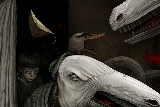 Ilustración oscura y digital de ANTON SEMENOV – GLOOM