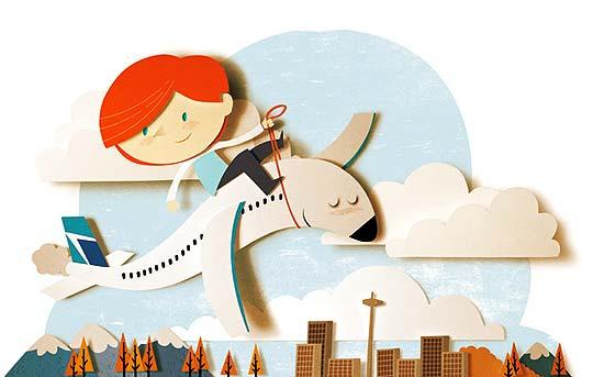 Ilustración en papel recortado con BOMBOLAND