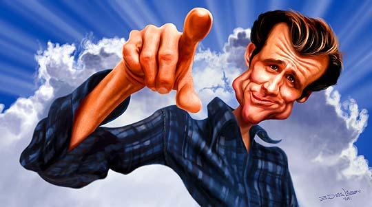 Caricatura de famosos con ED VAN DER LINDEN