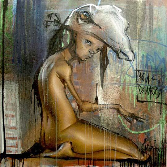 Arte urbano en pareja con HERAKUT
