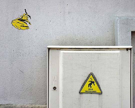 Arte urbano divertido con OAKOAK