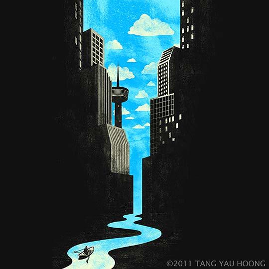 Ilustración, ingenio, fondo-forma con TANG YAU HOONG
