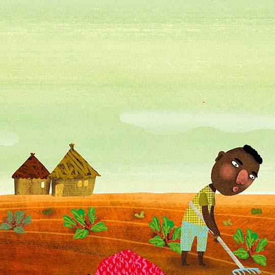 Ilustración en detalle de ÀFRICA FANLO
