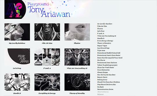 Portafolio de Diseño online. Algunos tips y consejos II (Tony Ariawan)