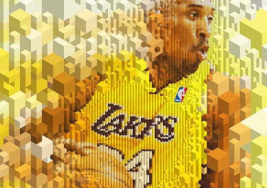 Ilustración en pixeles isométricos para Nike por COOEE - Leon Dijkstra