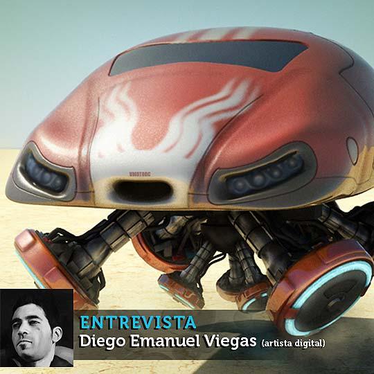 3D y arte digital con DIEGO EMANUEL VIEGAS. Entrevista