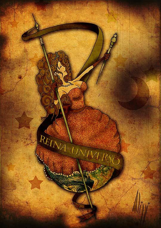 Reina del universo, ilustración de EMANUEL ALIPPI