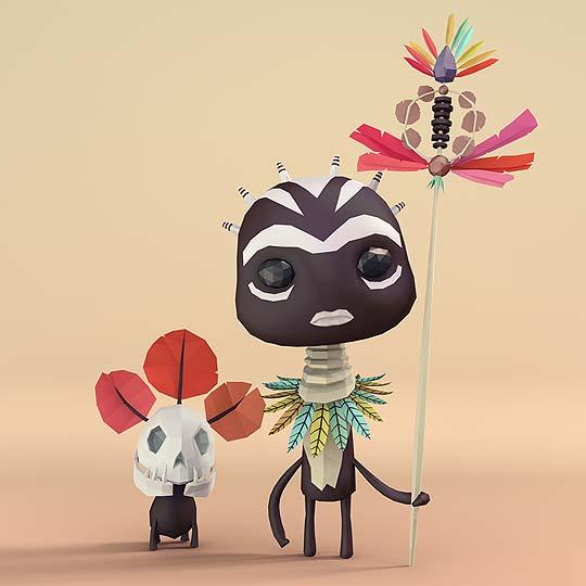 Ilustración 3D y personajes de ERWIN KHO
