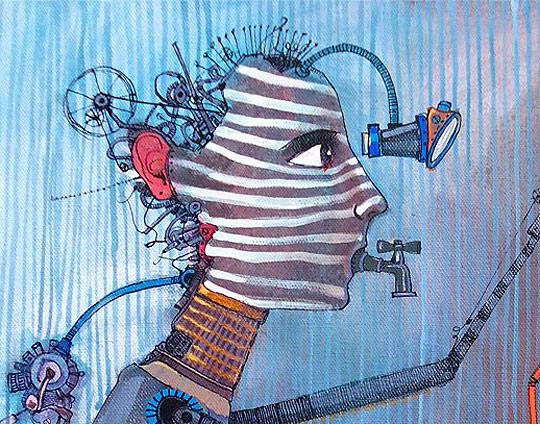 Ilustración en detalle de JAVIER RAMOS CUCHO