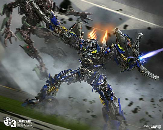 Concept art de JOSH NIZZI para Transformers 3