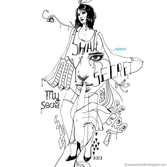 Arte, ilustración y dibujo de MANUEL REBOLLO
