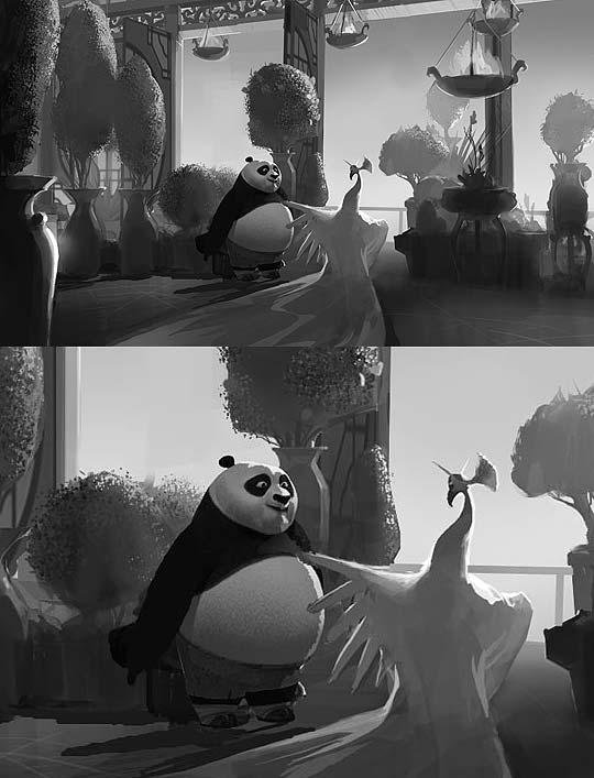 Concept Art de Kung Fu Panda por MIKE YAMADA