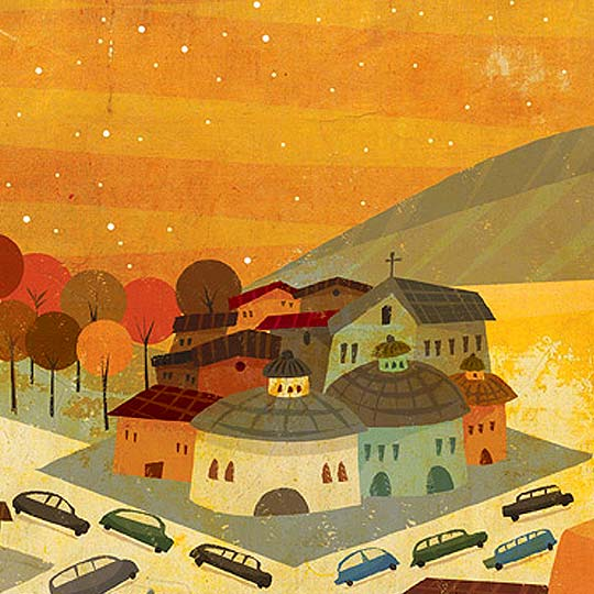 Ilustración infantil en detalle de ROGER YCAZA