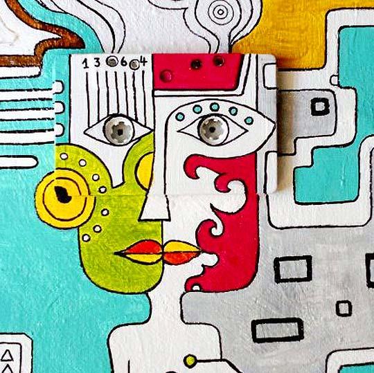 Arte. Acrílico sobre cassette de MACARENA RABY